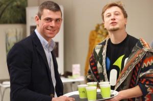 Maciej Nowicki ( z lewej ) i Grzegorz Łapanowski
