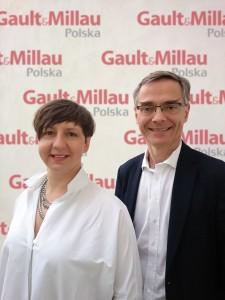 Côme de Chérisey,  Prezes Wydawnictwa Gault & Millau i  Justyna Adamczyk,  Redaktor Naczelna polskiej edycji.